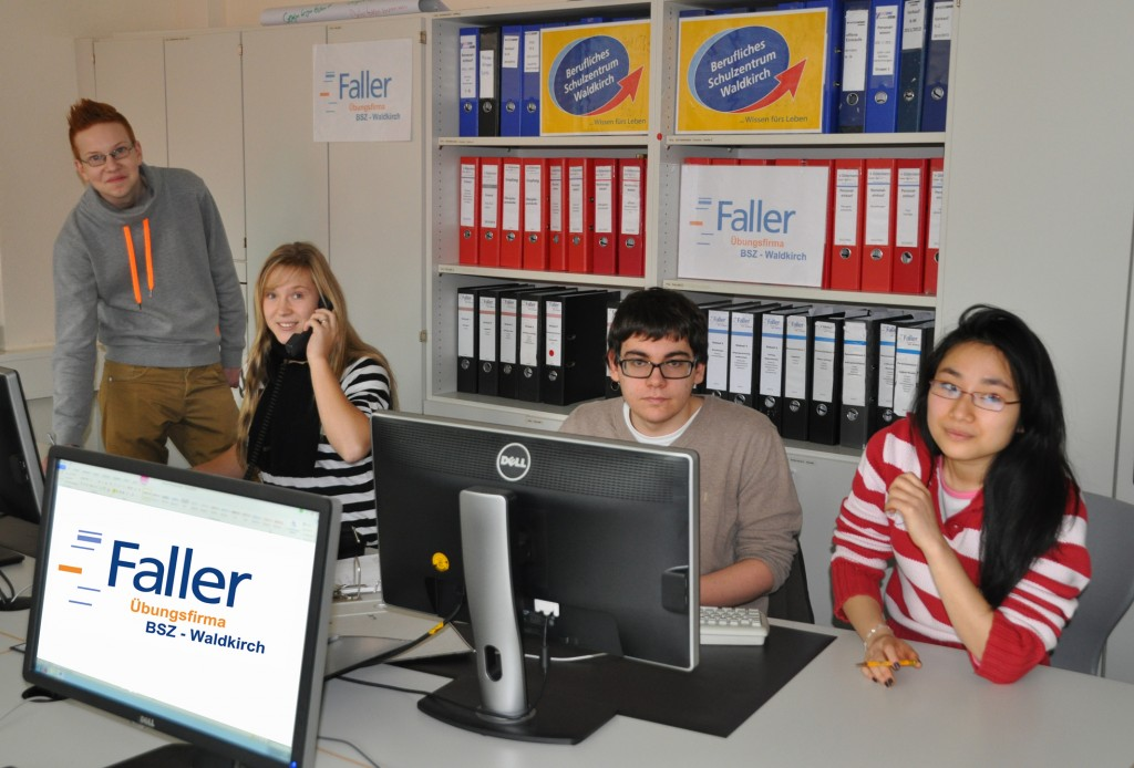 Faller at their office