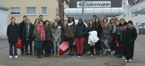 VEI students prior to tour of Gütermann manufacturing facility
