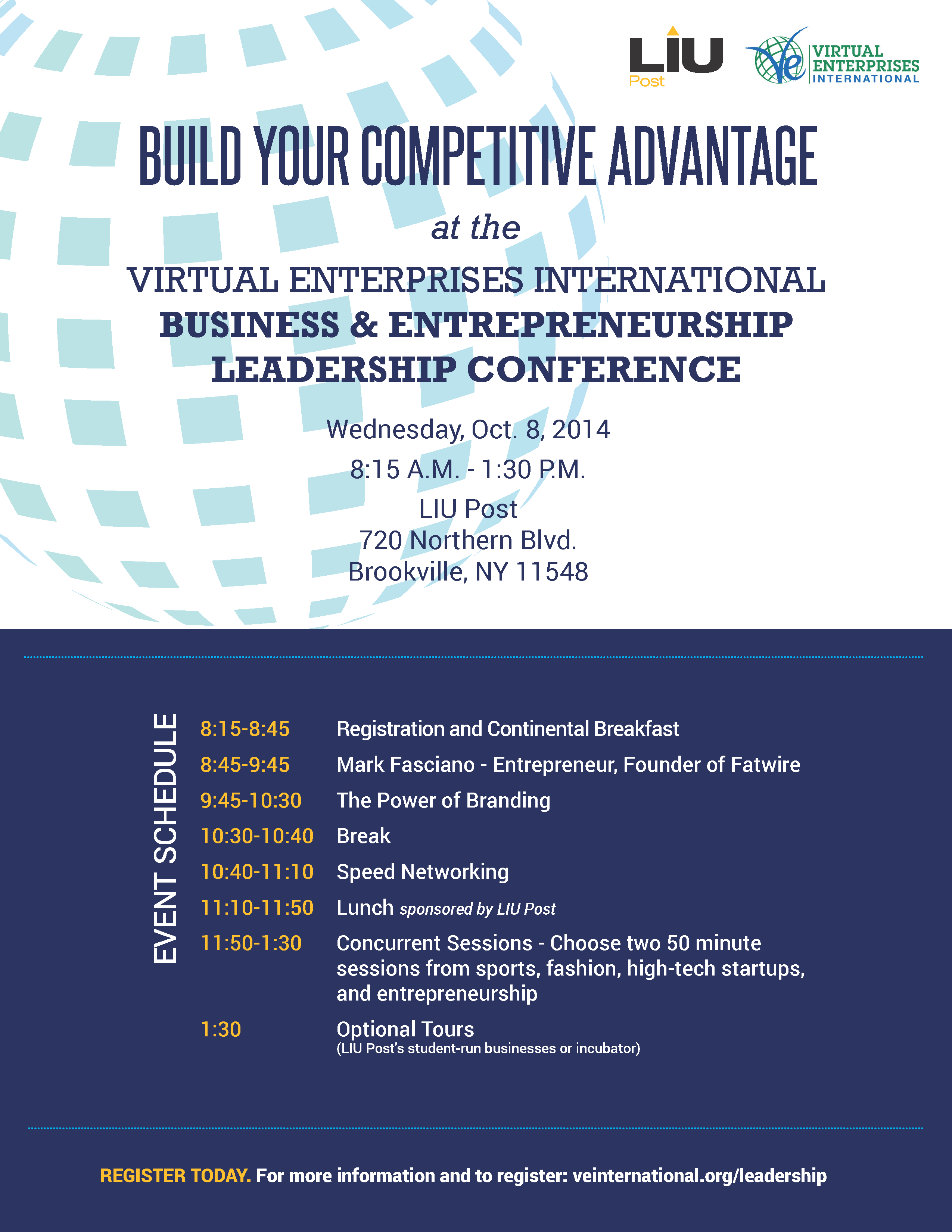 [NYC and Long Island] Register Now to Attend the LIU Leadership Conference on Oct. 8th