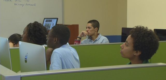 Students during the first class. Photo Credit: News 12 Bronx