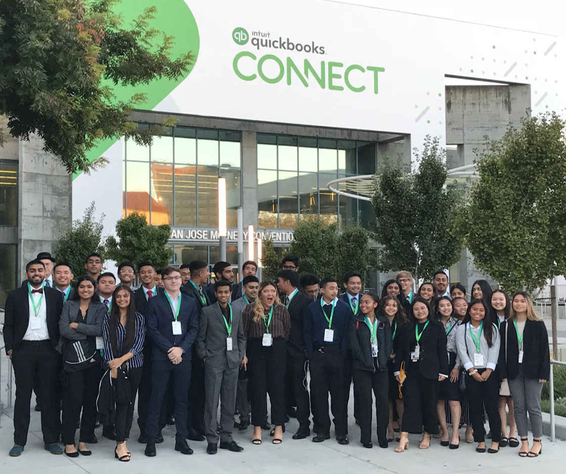 VE Students from James Logan High School Connect with Business Leaders at QuickBooks Connect San Jose